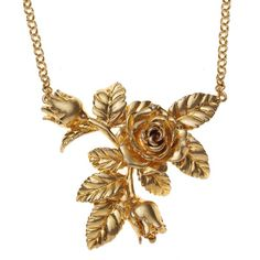 Vintage Rose Necklace ($7.91) ❤ liked on Polyvore featuring jewelry, necklaces, accessories, gold, rose, rose jewellery, vintage style jewelry, vintage style pendant, chain link jewelry and vintage style jewellery