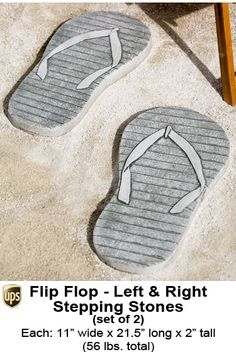 Flip Flop Cast Stone Stepping Stones, create a path right to the pool or  beach!