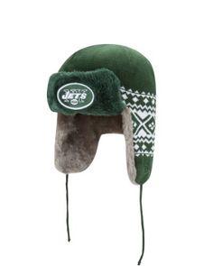 b7ec26f2888 NFL New York Jets Team Trapper Knit Cap by New Era. Save 8 Off!.  24.95