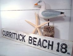 Beach Sign Outer Banks Nags Head Currituck Beach by justbeachyshop