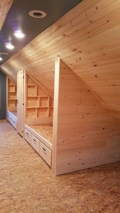 attic makeover ideas attic living attic bedroom ideas for kids garage attic ideas bedroom in attic attic storage ideas attic ideas bedroom attic bedroom ideas master attic ideas diy Bunk Rooms, Attic Bedrooms, Upstairs Bedroom, Bedroom Loft, Bedroom Rustic, Attic Bathroom, Upstairs Loft, Bunk Beds, Master Bedroom
