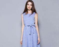 Fashion Linen Cotton Stripe Denim Blue Jumper Skirt One-Piece Dress http://www.fashion-wholesaler.com/dresses-c-10200/fashion-linen-cotton-stripe-denim-blue-jumper-skirt-onepiece-dress-p-2551.html