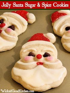 Jolly Santa Sugar & Spice Cookies