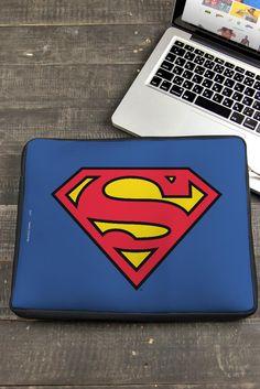 Capa de Notebook Modelo Logo Superman Oficial