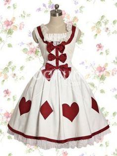 Weiß Baumwolle Sweet Lolita Kleid