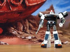 Stop Motion Masterpiece GIFs of Prowl transforming by OptimusTimelord.