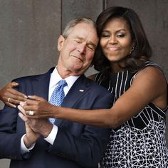 Find someone who loves you like George Bush loves Michelle Obama
