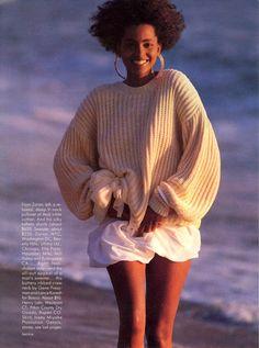 US Vogue 1989 Photo Neil Kirk Model Louise Vyent
