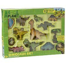 Animal Planet Playset - Large Baby Dinosaurs by animal planet. $28.20. Developmental Skills: Creativity. This Animal Planet Baby Dinosaur Playset, makes even the most ferocious dinos look sweet and cute! Just like a mommy dinosaur, kids can play with and take care of these little guys, which are sized just right for a young child's hands. This 12-piece set includes 9 dinosaurs, 1 watering hole, 1 tree, and 1 hatchling in a nest; there are enough adorable dinos f...