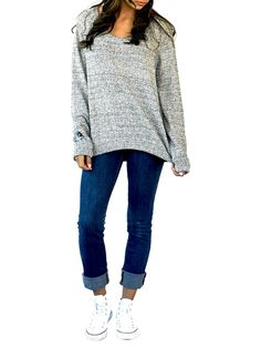 Slouchy sweater! This would be great with leggings and boots!