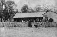 Anglesea River Post Office: Mrs Murray at the gate, c. 1889
