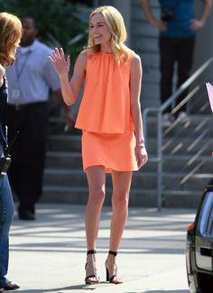 Kate in cantaloupe -- such a pretty color