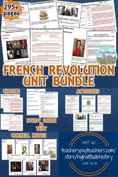Ready to Teach Your Students About the French Revolution? Stop By and See Our French Revolution Unit Bundle, Packed with the Materials You Need to Make Your Lessons Fun, Engaging and Worthwhile for Your Class!