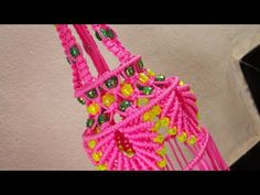 Macrame Beautiful Design Jhumar Tiutorial || Full HD Part - YouTube