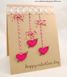 Easy and creative DIY Valentine card ideas to make at home.Valentine day cards for kids, last minute diy cards for valentine. Happy Valentines Day Images, Happy Valentines Day Card, Valentines Greetings, Valentine Greeting Cards, Valentine's Day Greeting Cards, Valentines Diy, Easy Diy Valentine's Day Cards, Valentine's Day Diy, Valentine's Day Card Messages