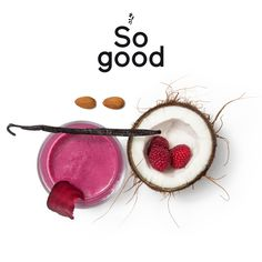 """Try out our vegan smoothie """"smooth energy"""" - what you need is: 1 cup frozen red berries, 50 g sliced beetroots, 1 banana, 1 teaspoon flax seed, 1 teaspoon almond butter, 1 teaspoon vanilla extract, 200 ml almond milk, ½ teaspoon coconut oil, grated coconut and 1 RINGANA Pack energy. ;) http://www.ringana.com/955748"""
