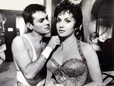 Tony Curtis and Gina Lollobrigida in'Trapeze', 1956.