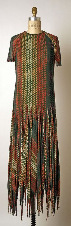 Dress, Evening  Pierre Cardin  (French, born 1922)    Date:      ca. 1971  Culture:      French  Medium:      silk, synthetic