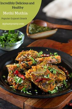 Methi Muthiya is a popular vegetarian Gujarati Snack that is healthy and delicious at the same time. Make this super easy snack or travel-friendly appetizer and enjoy them with tea. Vegan Indian Recipes, Best Vegetarian Recipes, Gujarati Recipes, Gourmet Recipes, Snack Recipes, Healthy Recipes, Ethnic Recipes, Gujarati Food, Appetizer Recipes