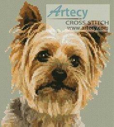Mini Silky Terrier - cross stitch pattern designed by Tereena Clarke. Category: Mini.