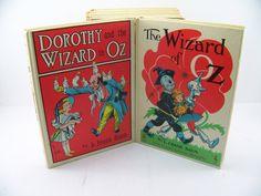 Five Vintage Children's Oz Books 1950's by FineLineTreasures, $59.00