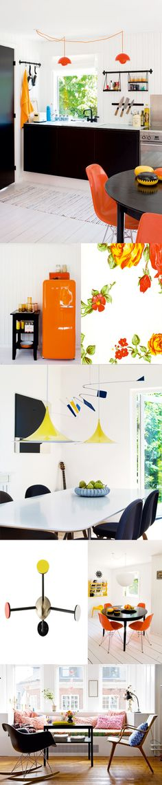 What is it about bright rooms that attracts me so much? Images from another great post by SF Girl By Bay.