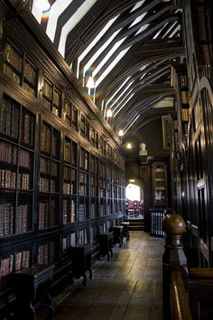 "aconglomerateofthought:  "" bonitavista:  "" Chetham's Library, Manchester, England  photo via waterstones  ""  Library  """