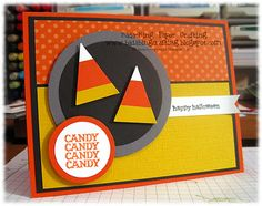 Stampin' Up!  Pennant Punch  Mindy Backes  Candy Corn