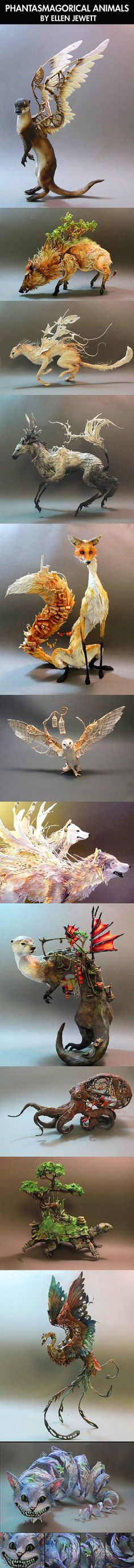 Amazing animal sculpture art.