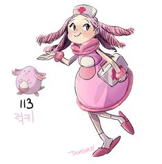 113.Chansey by tamtamdi on DeviantArt