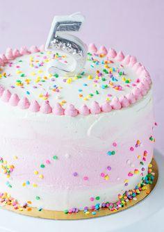 Birthday Parties, Birthday Cake, Ombre Cake, Funfetti Cake, Creative Cakes, Party Cakes, Party Time, Tart, Cake Decorating