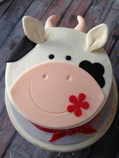 Pretty Picture of Cow Birthday Cake . Cow Birthday Cake Farm Themed Smash Cake My Cakescupcakes Cow Cakes, Cupcake Cakes, Bolo Naruto, Farm Birthday Cakes, 2nd Birthday, Birthday Ideas, Farm Animal Cakes, Animal Cakes For Kids, Farm Animals