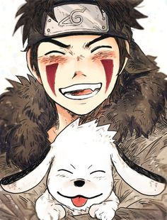 So pure ♡♡♡♡ Kiba and Akamaru