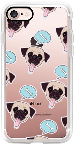 Casetify iPhone 7 Classic Grip Case - Hungry Pug #Casetify