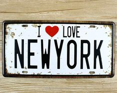 I LOVE NEW YORK Vintage license plate - Home Decor - Tac City Goods https://www.taccitygoods.com/products/i-love-new-york-vintage-license-plate