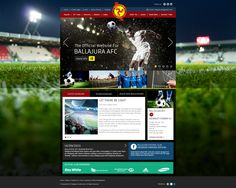 Ballajura Football #Website #Weblayout #Webdesign #Inspiration #Web #Layout