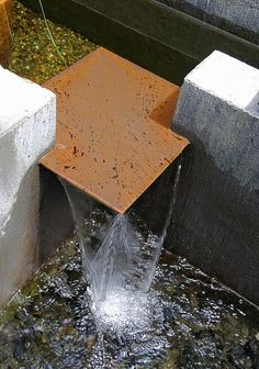 Corten water feature.
