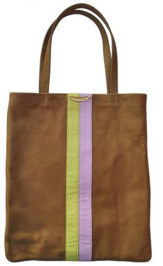 Volaga striped pastel leather tote https://www.etsy.com/shop/TheBohemianInMe