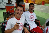 Some athletes in the Special Olympics from the Hogar del Niño Orphanage in El Salvador.