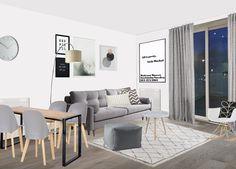 Visual of modern Scandi open plan living apartment, Kent. Open Plan Living, Divider, How To Plan, Modern, Room, Furniture, Home Decor, Style, Bedroom