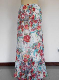 Flowery skirt, cotton silk, IDR 70K  Contact: Whatsapp: 08561509919   #floweryskirt #patternskirt #maxiskirt #cottonsilk