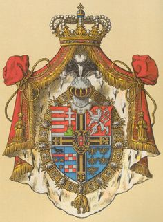 New Coat of Arms of Archduke Eugen of Austria-Teschen (1863-1954), Grand Master of the Teutonic Order, by Hugo Gerard Ströhl.