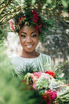exotic tropical garden wedding