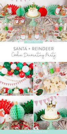 How to Host a Cookie Decorating Party for Kids – Food: Veggie tables Christmas Cookies Kids, Christmas Party Ideas For Teens, Adult Christmas Party, Christmas Birthday Party, Christmas Party Decorations, Kids Christmas, Holiday Fun, Lollipop Decorations, Christmas Breakfast