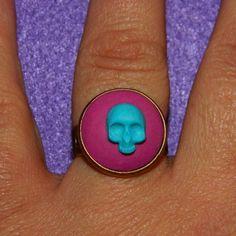 Cameo mini skull, anello regolabile