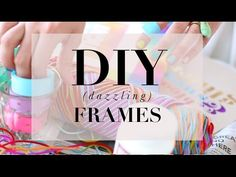 DIY Dazzling Frames (spruce up your plain white picture frames in to a unique creation!) By: Tiffany Pratt + Steph Sterjovski Tiffany Pratt, White Picture Frames, Diy Ideas, Craft Ideas, Diy Frame, Home Organization, Diys, Room Ideas, Delicate