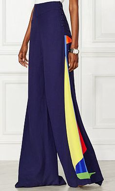 Brianne Appliqué Cady Pant - Collection Apparel Pants - RalphLauren.com