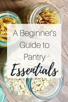 A beginners guide to Pantry Essentials! Keep your pantry and wallet stocked! With Free Printable! (scheduled via http://www.tailwindapp.com?utm_source=pinterest&utm_medium=twpin&utm_content=post153684025&utm_campaign=scheduler_attribution)