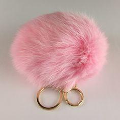 Keychain/Purse Charm Light pink rabbit fur Pom Pom Key Ring /Purse Charm with claw clasp. Gold tone metal hardware. Accessories