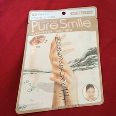 """PENDING Pure Smile hand mask $4 (""""pearl"""" is shown, but my version is """"honey"""""""